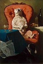 Alfred Dedreux - Pug Dog in an Armchair.jpg