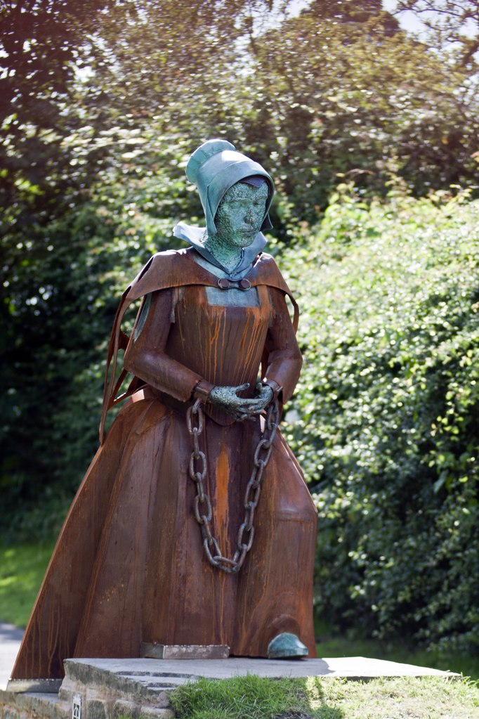 Statue of Alice Nutter, one of the accused Pendle witches