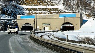 Allegheny Mountain Tunnel - Eastern entrance to the tunnel