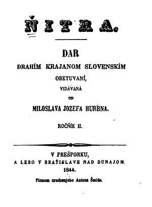 "Juraj Košút - The first book printed in Štúr's language standard was dedicated to ""Ďurko Košút""."
