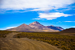 Cerro Cañapa mountain in Bolivia