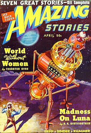 "Russell R. Winterbotham - Winterbotham's ""Madness on Luna"" was the cover story in the April 1939 Amazing Stories"