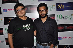 Amber Sharma With Deven Bhojani During Premier Of The Man In The Maze.jpg