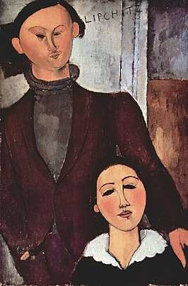 Jacques en Berthe Lipchitz (1916) door Amedeo Modigliani