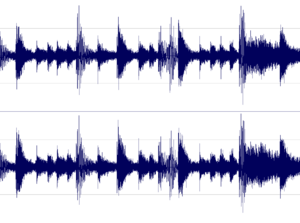 Amen break - Part of the waveform for the Amen break including the crash at the end.