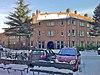 foto van Bouwblok van 53 etagewoningen, blok D voor de Algemene Woningbouw Vereniging