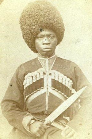 Abkhazians of African descent - An African man in Karabakh. Photo by George Kennan, 1870.
