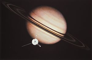 An artist's impression of the encounter between Pioneer 11 and Saturn.jpg