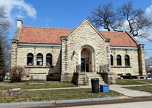 National Register of Historic Places listings in Jones County, Iowa - Image: Anamosa Public Library Anamosa Iowa