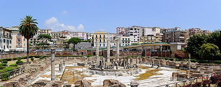 Ancient Roman market place and Serapis temple panorama - Pozzuoli - Campania - Italy - July 11th 2013.jpg