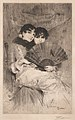 Anders Zorn - The Cousins (etching) 1883.jpg