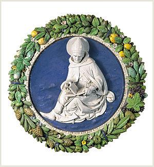 Andrea della Robbia - Image: Andrea Della Robbia San Agustin Colección Carmen Thyssen Bornemisza en depósito en el Museo Thyssen Bornemisza ca 1490