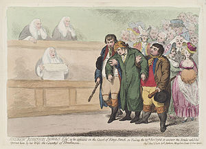 Andrew Robinson Stoney - Andrew Robinson Bowes Esq. as he appeared in the Court of King's Bench, on 28 November 1786 to answer the articles brought against him by his wife, the Countess of Strathmore