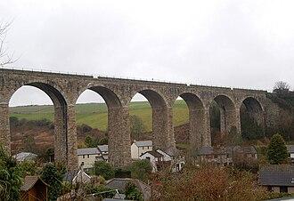 Angarrack - Image: Angharrack Railway Viaduct Cornwall UK