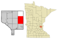 Anoka Cnty Minnesota Incorporated and Unincorporated areas Columbus Highlighted.png