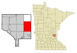 Location of the city of Columbuswithin Anoka County, Minnesota