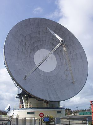 Goonhilly Satellite Earth Station - Image: Antenna One (Arthur) at Goonhilly (front view)