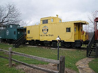 Antlers Hotel (Kingsland, Texas) - Each caboose was restored to become a hotel suite.