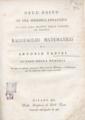 Antonio Tadini – Dell'esito di una memoria idraulica inviata alla sociea delle scienze di Verona ragguaglio matematico di Antonio Tadini, 1815 - BEIC 6312672.tif