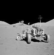 Apollo 17 rover at final resting site