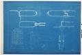 Arbetsritning för fastigheten nr 4 Hamngatan. Ytterportar, blueprint - Hallwylska museet - 105260.tif