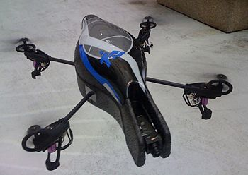 Parrot AR.Drone prototype flying