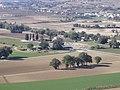 Area archeologica di Suasa - Vista dalla Croce del Termine 4 - Foro e Domus dei Coiedii.JPG