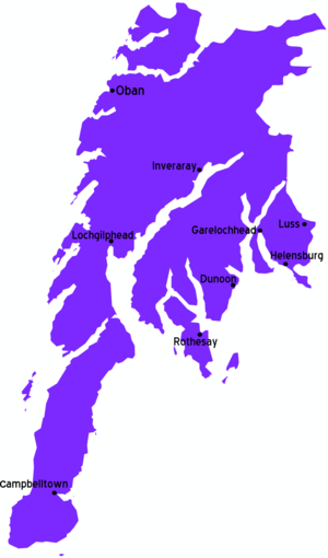 Px Argyll And Bute Map