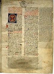 Manuscrit médiéval de la Physique d'Aristote