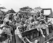 Army nurses rescued from Santo Tomas 1945g