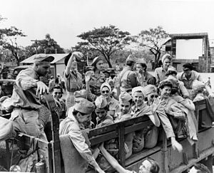 Angels of Bataan - Image: Army nurses rescued from Santo Tomas 1945g