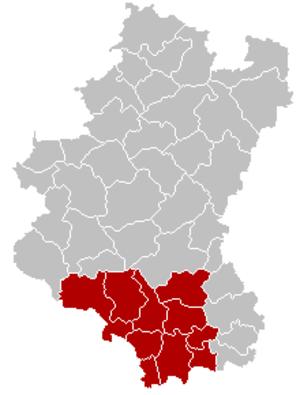 Arrondissement of Virton - Image: Arrondissement Virton Belgium Map