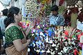 Artificial Flower Stall - Durga Puja Festival - FD Block - Salt Lake City - Kolkata 2013-10-11 3304.JPG