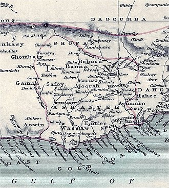 Ashanti Empire - Map of the Kingdom of Ashanti
