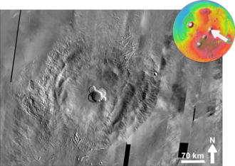 Ascraeus Mons - Image Credit: NASA/JPL/Malin Space Science Systems
