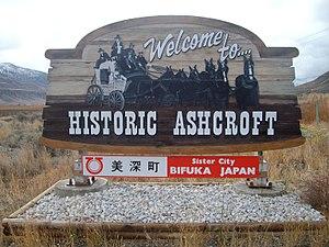 Ashcroft, British Columbia - Ashcroft's welcome sign
