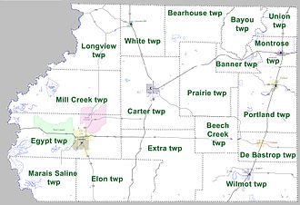 Ashley County, Arkansas - Townships in Ashley County, Arkansas as of 2010