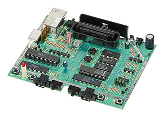 Atari 7800 - Motherboard of an American 7800 with the RF shielding removed