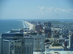 Atlantic City skyline from 47th floor of the Ocean Casino Resort