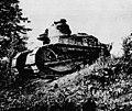Au camp du Valdahon 1926 - Un char d'assaut léger à la manoeuvre.jpg