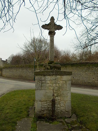 Aubigny, Calvados - The Well and Wayside Cross