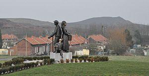 Auchel - The mining memorial