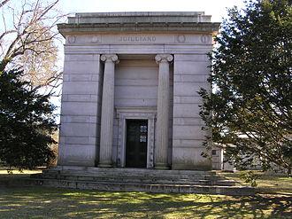 Augustus D. Juilliard - The mausoleum of Augustus. D. Juilliard in Woodlawn Cemetery