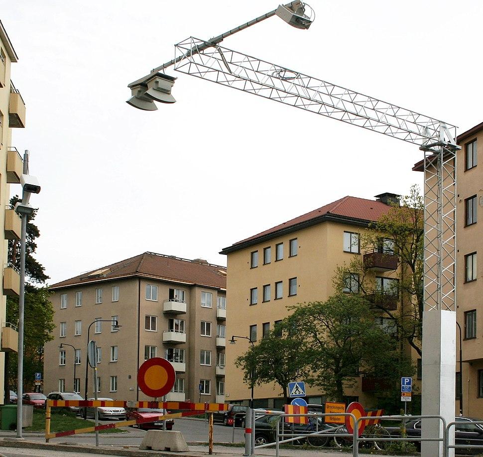 Automatic tollstation at Lilla Essingen Stockholm