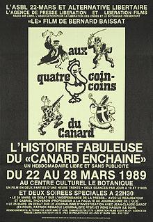Con motivo de una serie de proyecciones en Bruselas en 1989, un cartel por Alternativa Libertaire .
