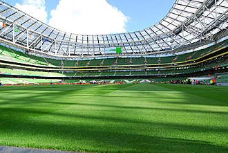 Lansdowne Road - The inside of the Aviva Stadium, after construction