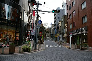 Azabu-Jūban neighborhood in Minato-ku, Tokyo