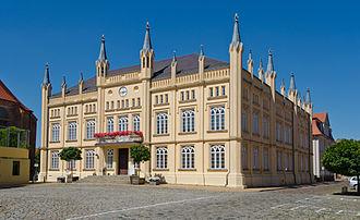 Bützow - Image: Bützow Am Markt 10 Rathaus