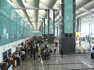Check-in counters at Bengaluru International A...