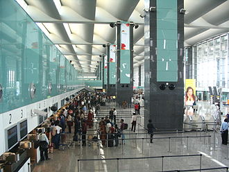 Kempegowda International Airport - Check-in counters in the departure hall